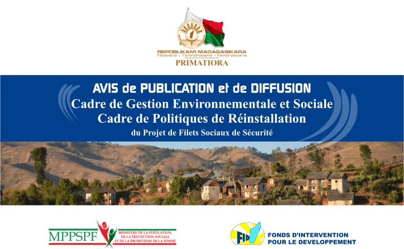 Cadre de gestion environnementale et sociale / Cadre politique de réinstallation