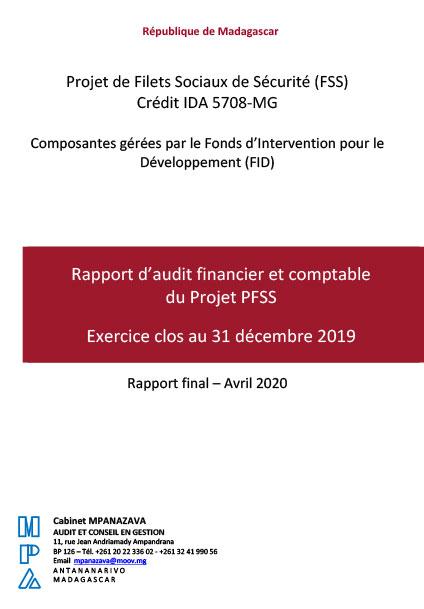 Rapportd'auditfinancieretcomptable duProjetPFSS – CréditIDA5708‐MG