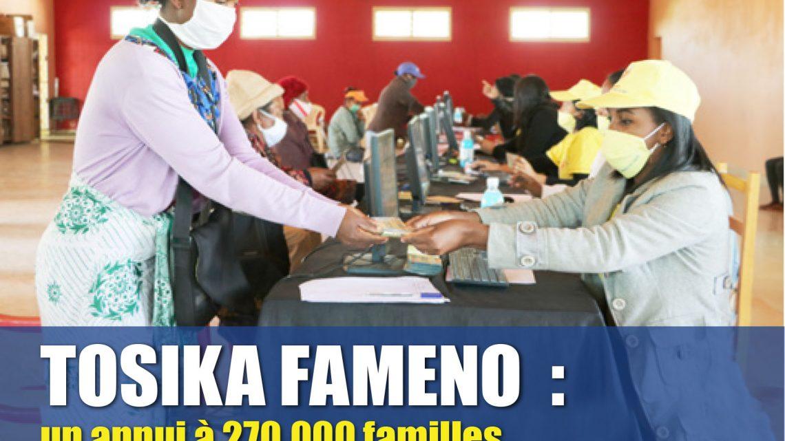 TOSIKA FAMENO : un appui à 270 000 familles vulnérables en réponse au COVID-19
